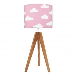 lampka dziecięca chmurki na różowym