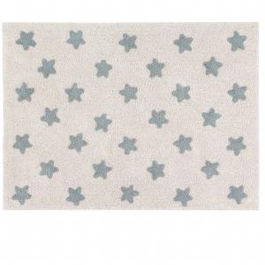 beżowy dywan w niebieskie gwiazdki