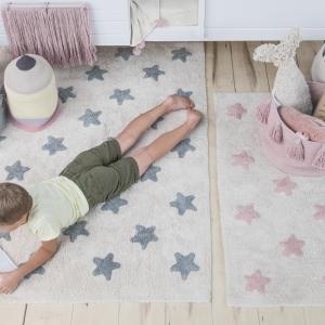 Dywan dziecięcy duży niebieskie gwiazdki
