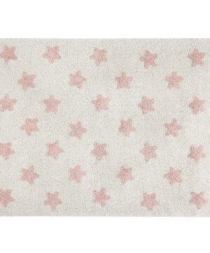 dywan do pokoju dziecka w gwiazdki różowe