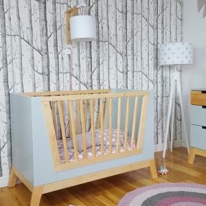 łóżeczko w stylu skandynawskim