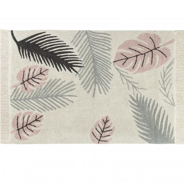 dywan z frędzlami dla dzieci tropical pink w pastelowych kolorach