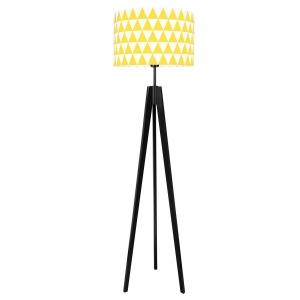 lampa w żółte wzory, lampa z żółtym abażurem do pokoju dziecka