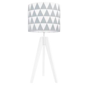 lampa na stolik szare trójkąty