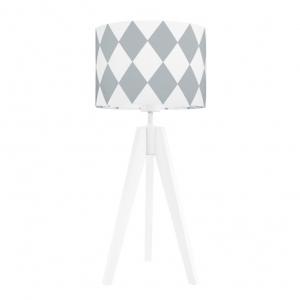 lampa na stolik szare romby