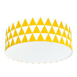 żółto biała lampa do pokoju dziecka w stylu skandynawskim