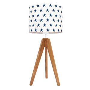 lampa na stolik granatowe gwiazdki