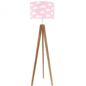 różowa lampa w chmurki do pokoju dziecka