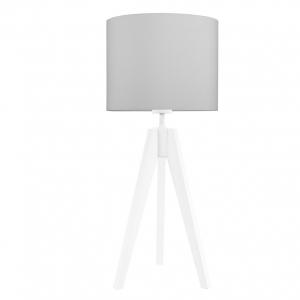 lampka na stolik czysta szarość