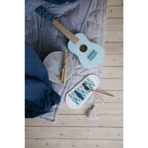 Cymbałki ksylofon pastelowy niebieski