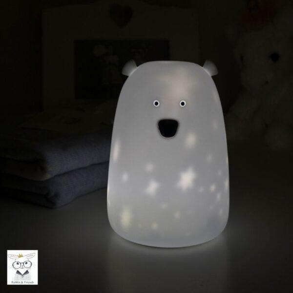 lampka silikonowa miś w gwiazdki