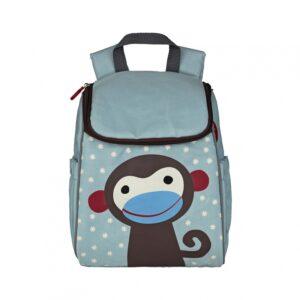 Plecak szkolny niebieski małpka