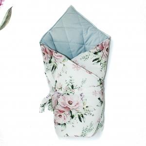 rożek niemowlęcy dla dzieci, wyprawka, rożek w kwiaty