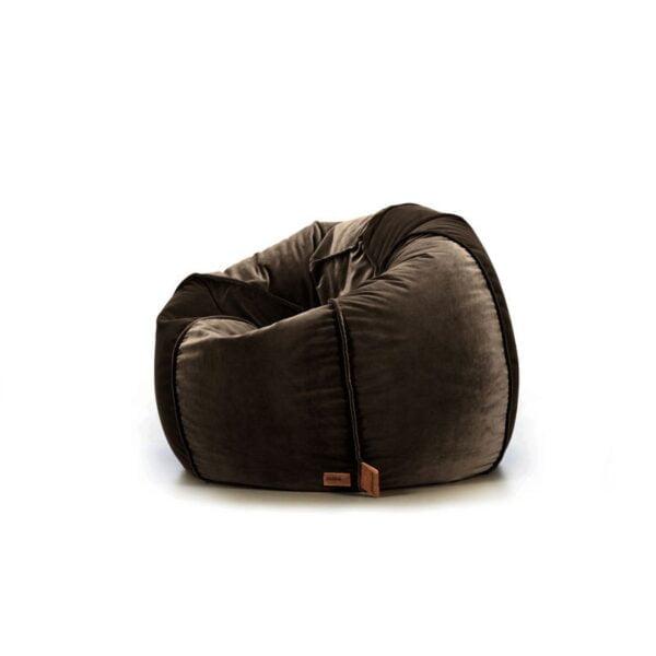 brązowa pufa fotel do pokoju dziecka