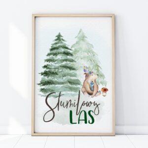 plakat na ścianę stumilowy las