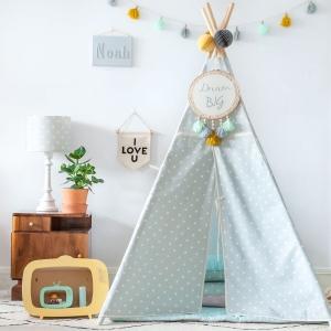 Namiot do pokoju dziecka kropki miętowe