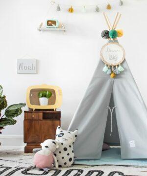 namiot do pokoju dziecka tipi szary
