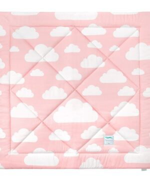 Mata do tipi chmurki szary i różowy
