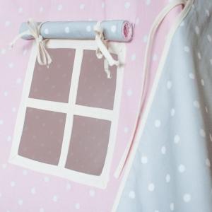 Namiot do pokoju dziecka kropki różowy