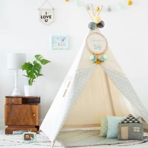 namiot do pokoju dziecka w kropki