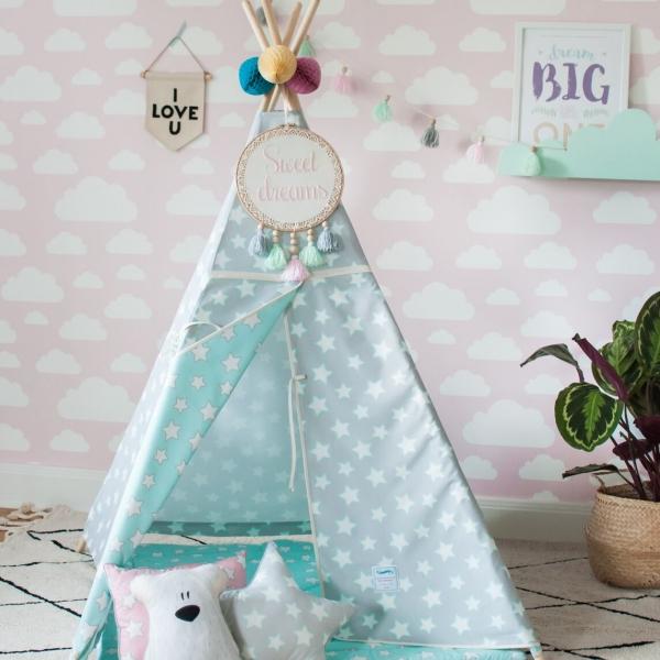 namiot do pokoju dziecka w gwiazdki