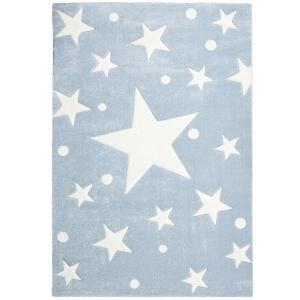 Dywan do pokoju dziecka niebieski gwiazdy