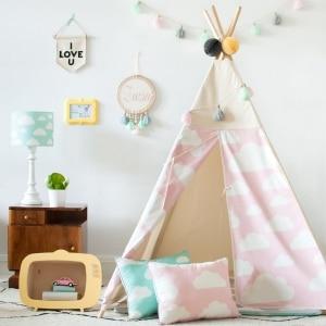 namiot do pokoju dziecka różowy chmurki
