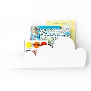 Półka chmurka do pokoju dziecka biała