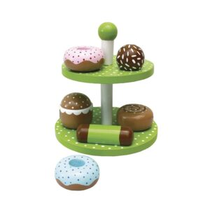 drewniana patera ze słodkościami zabawka dla dzieci