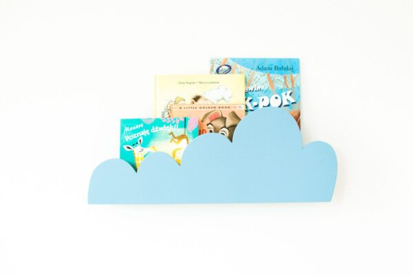 półka niebieska chmurka