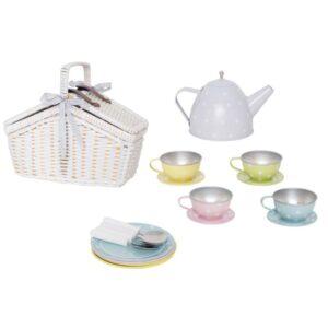 kosz piknikowy zabawka dla dzieci, serwis do herbaty