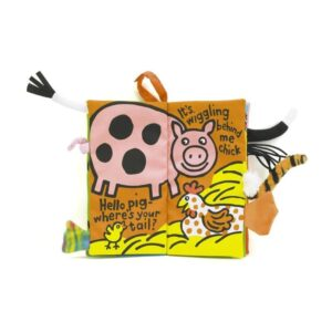 miękka książeczka dla niemowląt farma