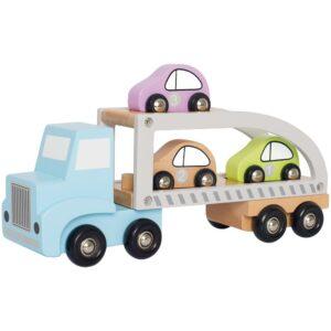 drewniany samochód zabawka dla dzieci, drewniana laweta