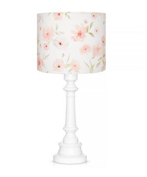 Lampa stojąca w kwiaty