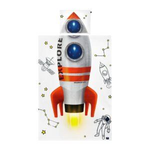 pościel bawełniana z motywem rakiety, pościel dla dzieci