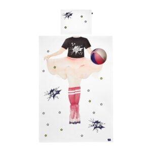 pościel z postacią super dziewczyny, pościel do zdjęć, pościel dla dziewczynki