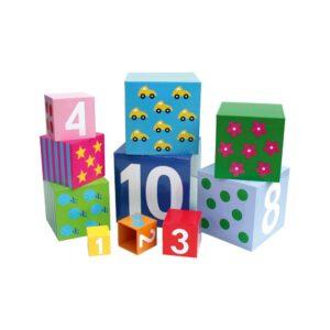 zabawka ucząca liczenia, kolorowe klocki