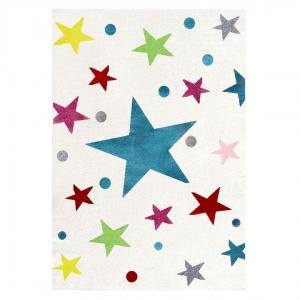 dywan do pokoju dziecka kolorowe gwiazdy