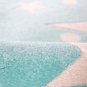 dywan dziecięcy miętowy w gwiazdy