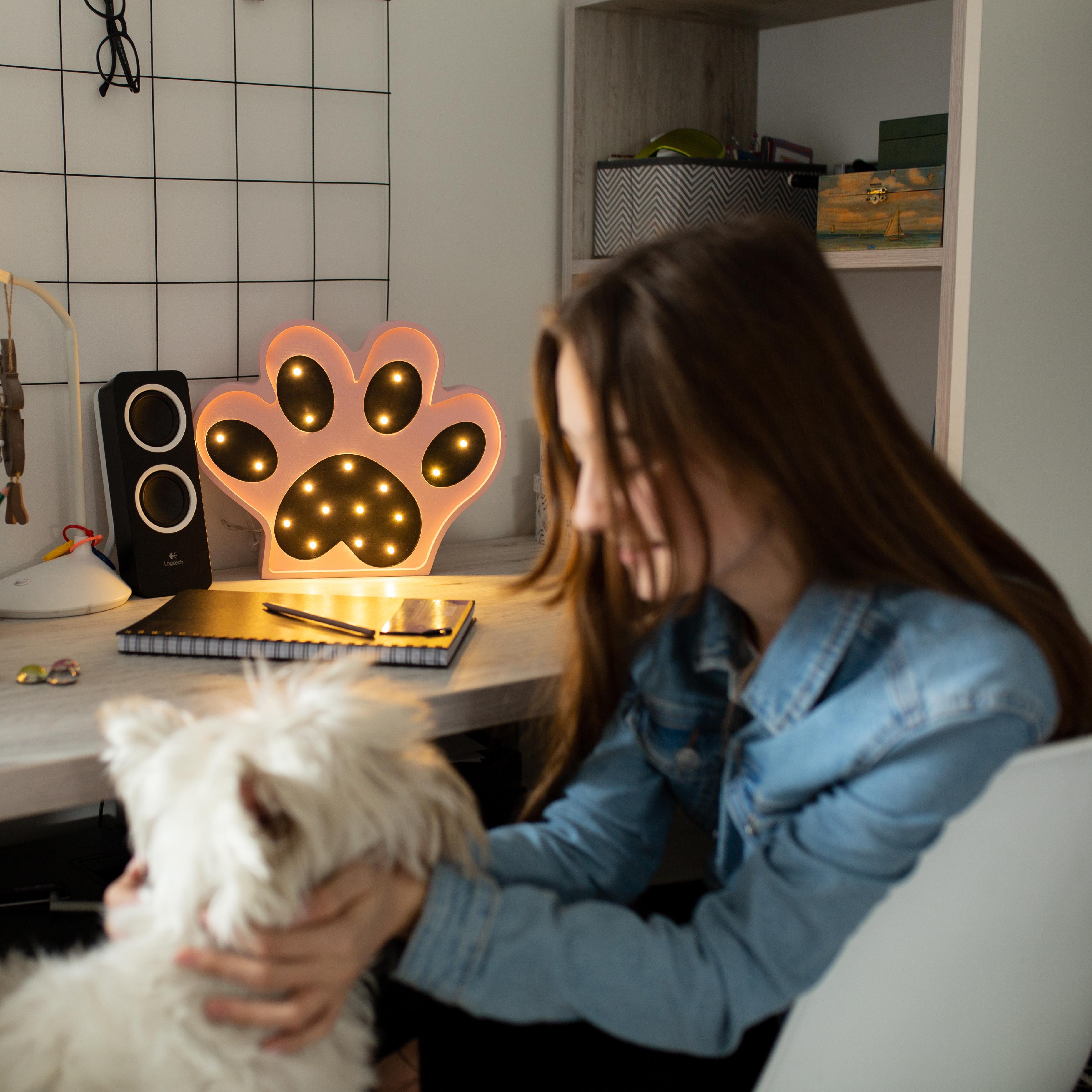 apka 5 - Lampa dla dzieci psia łapka