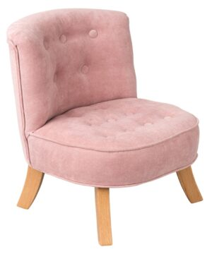 Fotel dla dziecka brudny róż