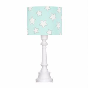 Miętowa lampa stojąca w gwiazdki