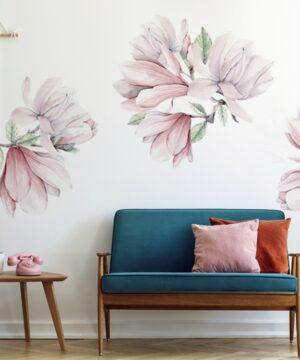 Naklejki na ścianę kwiaty magnolii DK385
