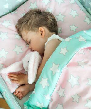 1bJz7wdw 300x360 - Pościel dla dzieci różowa w gwiazdki 100x135
