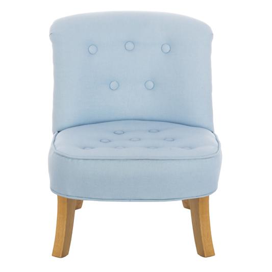 Niebieski fotel dla dziecka len