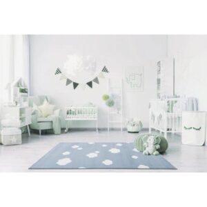 Dywan dla dzieci w chmurki niebieski