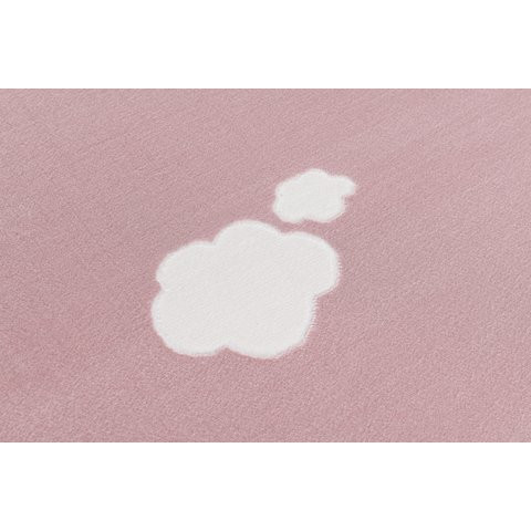 Różowy dywan w chmurki