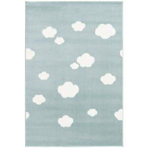Miętowy dywan w chmurki