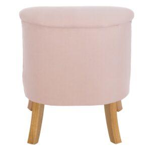 Różowy fotel dla dziecka len