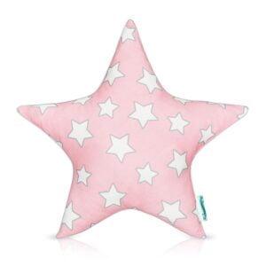 Poduszka ozdobna gwiazdka różowa